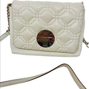 Kate spade gulf coast dove quilted crossbody
